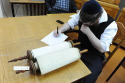 Photo 136 - Lenin Scientific Library - R. Koves Inspecting Torah Library Catalog