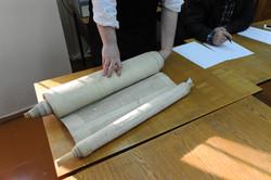 Photo 191 - Lenin Scientific Library - R. Koves Examines Torah Library Catalogue