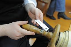 Photo 142 - Lenin Scientific Library - R. Koves Inspecting Torah Library Catalog