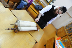 Photo 110 - Lenin Scientific Library - R. Koves Inspects Another Torah (Library