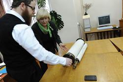 Photo 46 - Lenin Scientific Library - Guardian Brings Next Torah for Inspection