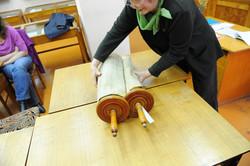 Photo 104 - Lenin Scientific Library - Guardian Bringing Next Torah (with Jewish