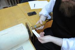 Photo 128 - Lenin Scientific Library - R. Koves Examining Torah - Library Catalo