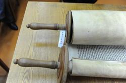 Photo 117 - Lenin Scientific Library - R. Koves Examining Torah Library Catalogu