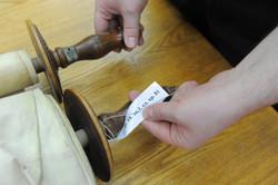 Photo 173 - Lenin Scientific Library - R. Koves Examining Torah Library Catalogu
