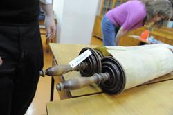 Photo 125 - Lenin Scientific Library - R. Koves & Sessler Examining Torah - Libr
