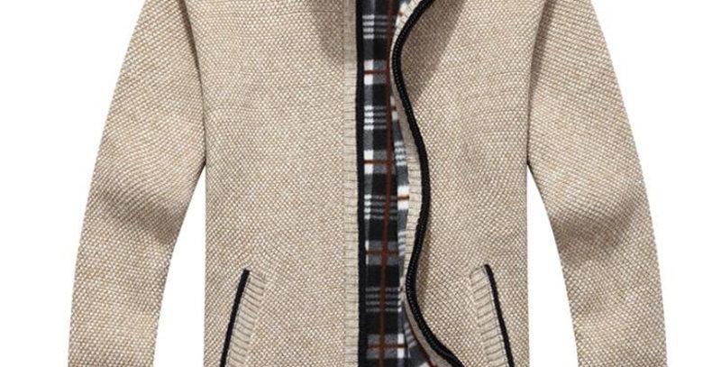 New Autumn Winter Jacket Men Warm Cashmere Casual