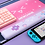 Thumbnail: Cute Cat Ears Big Mouse Pad For Computer Games Non-Slip Pink Girl Cartoon