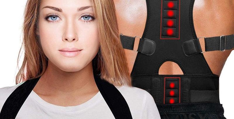 Posture Corrector Magnetic Therapy Brace Shoulder Support Belt for Men Women