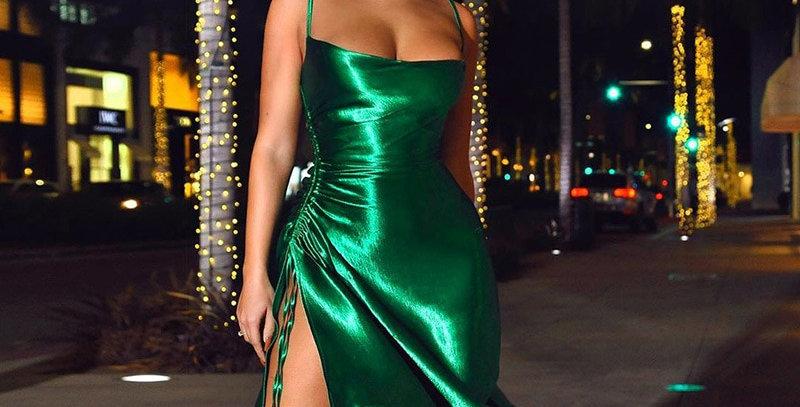 Summer Dress Women Satin Bodycon Dress Sexy Party Dresses