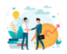 office-situation-partnership-flat-illust