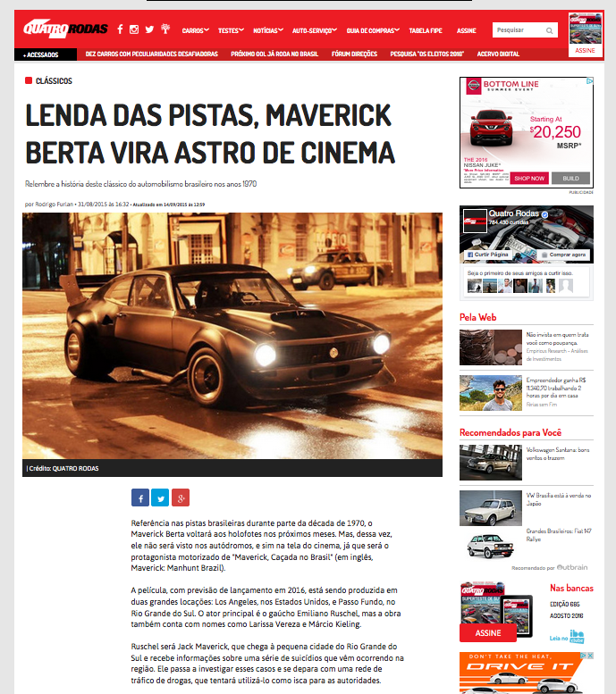 Emiliano Ruschel estrelando Maverick