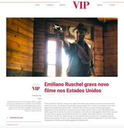 Emiliano Ruschel filma em Hollywood