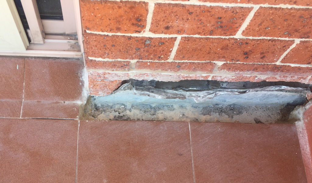 Cavity Flashing Repair