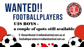 U18 Boys Spots Available