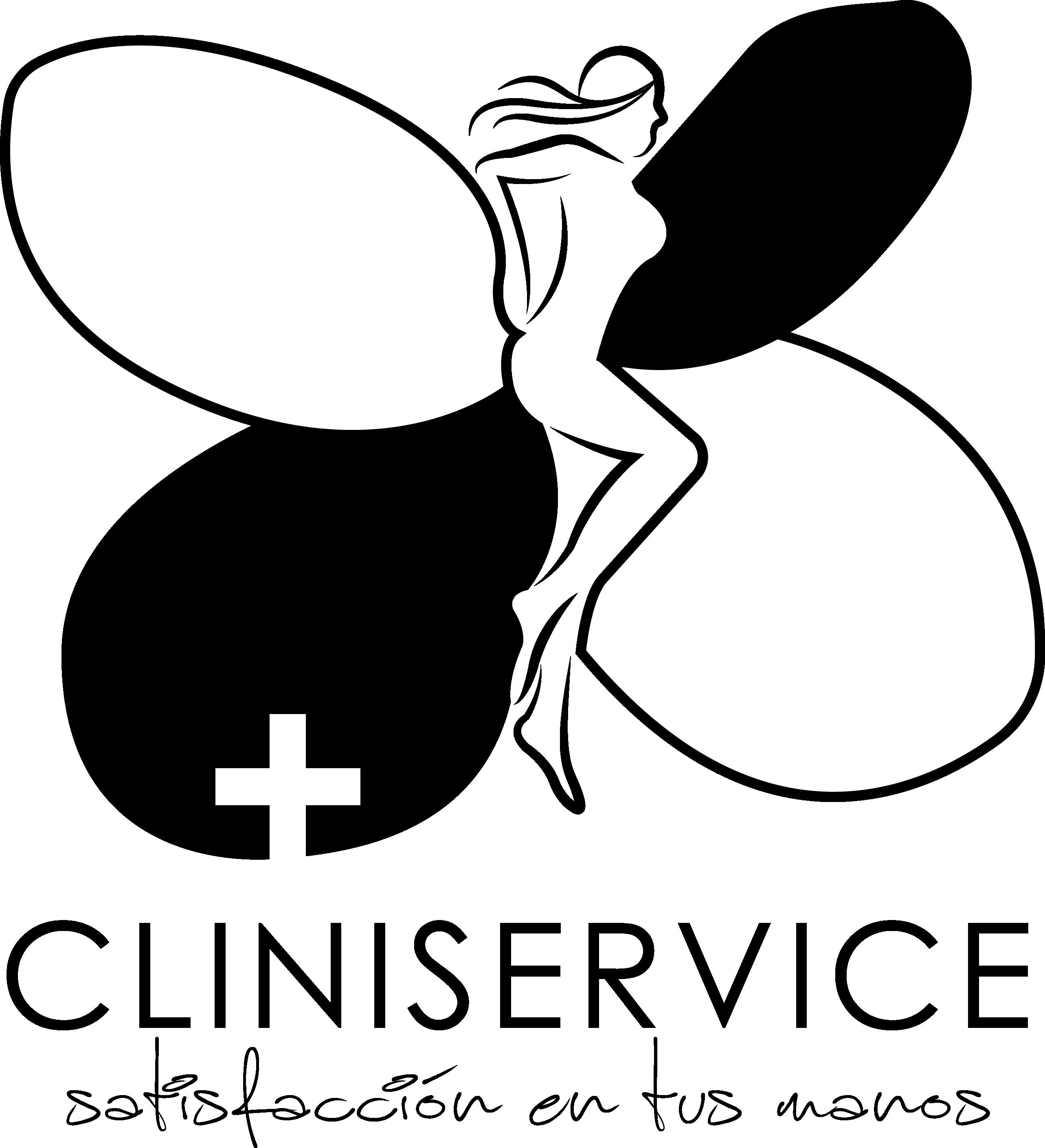 CLINISERVICE blanco y negro NUEVO png