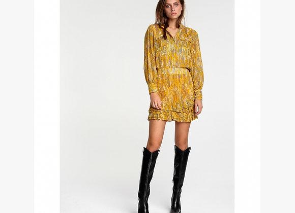 Animal Lurex Skirt