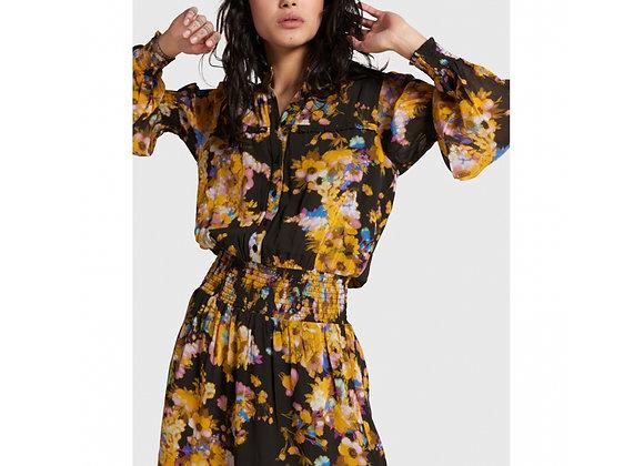 Big Flower Chiffon Dress