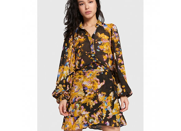 Big Flower Short Chiffon Skirt