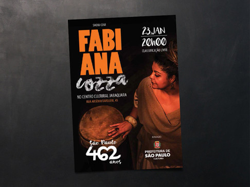 Flyer para evento: Fabiana Coza
