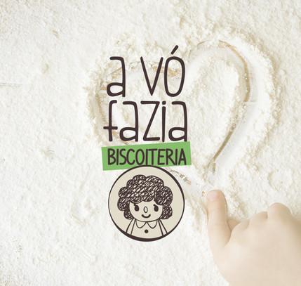 Logomarca: A vó fazia - biscoiteria
