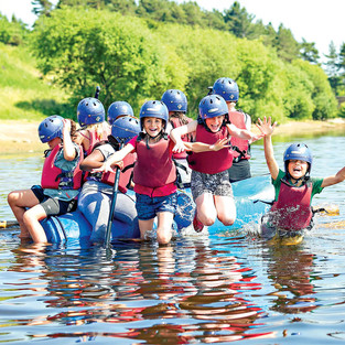 Raft building and river exploration