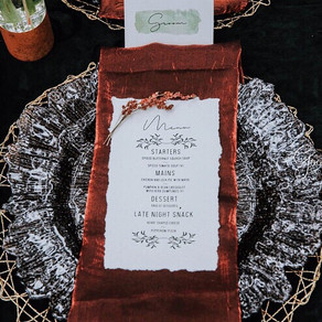Incorporating the perfect Menu into your next event.