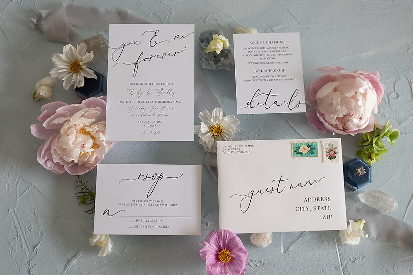Timeless Love Invitation Suite