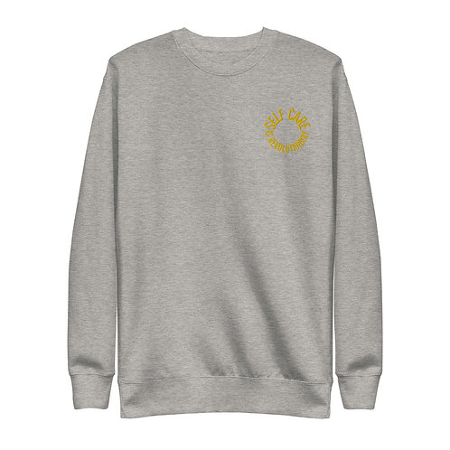 Self Care Gold Circle Unisex Fleece Pullover
