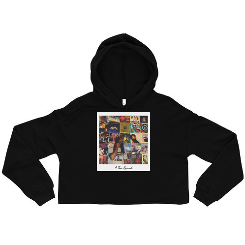 4 The Record Album Cover Crop Hoodie
