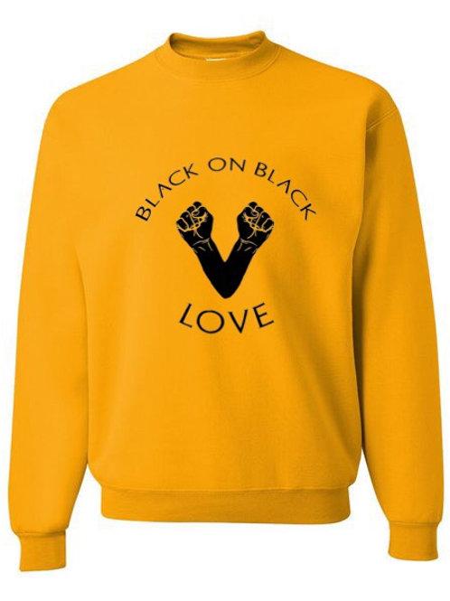 Black on Black love sweatshirt