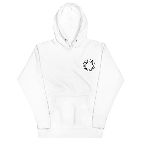 Self Care Black Circle Unisex Hoodie