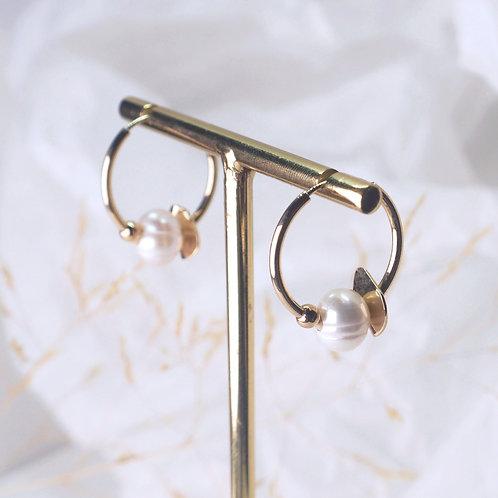 Créole perle et feuille