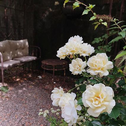 Hotellets trädgård är öppen hela dagen, varje dag för alla gäster.