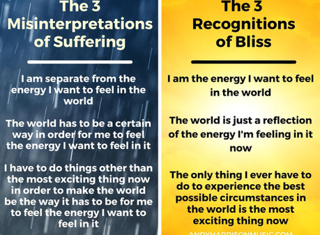 The 3 Misinterpretations of Suffering and the 3 Recognitions of Bliss