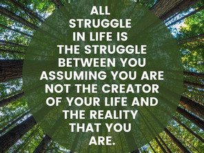 All Struggle in Life is...