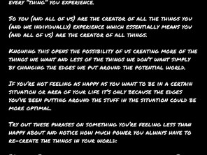 How You Are the Creator of Everything