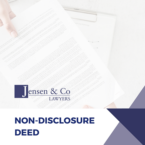 Non-Disclosure Deed