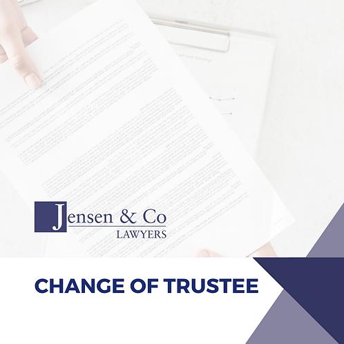 Change of Trustee