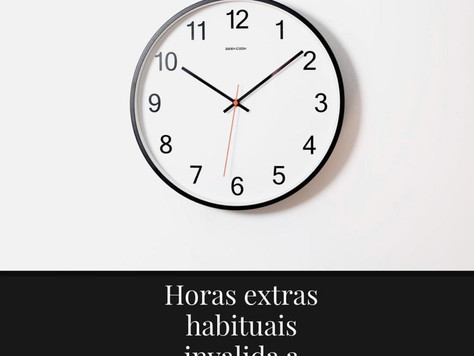 Horas extras habiturais invalida a jornada 12x36