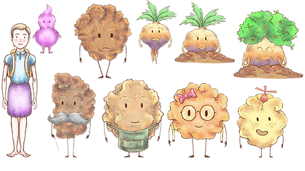 The characters of Annie and the Crumbles.