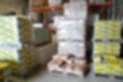 Zement Moertel Putz in einer Lagerhalle
