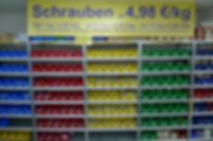 Schrauben-Aktion alle Schloßschrauben, Schlüsselschrauben, Maschinenschrauben und Kreuzschlitzschrauben ab 1 kg für nur 4,98 Euro pro Kilogramm kg Schlossschrauben