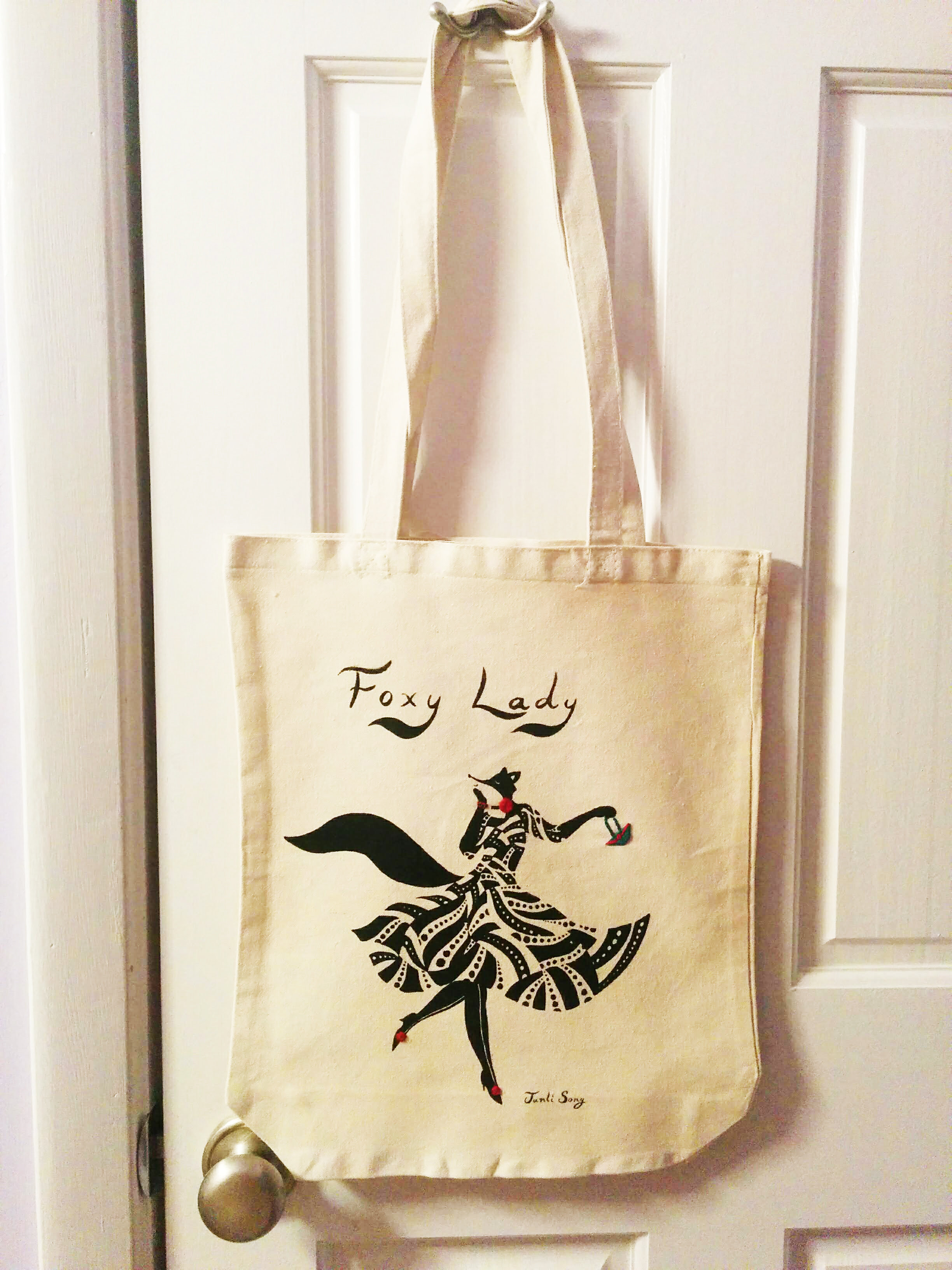 Fox Shopping Bag Bag for Groceries Adorable and Affordable Custom Tote by Woodland Crew Threads Foxy Lady Tote bag Best Picnics school