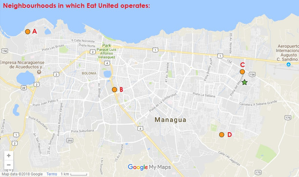 Map Managua
