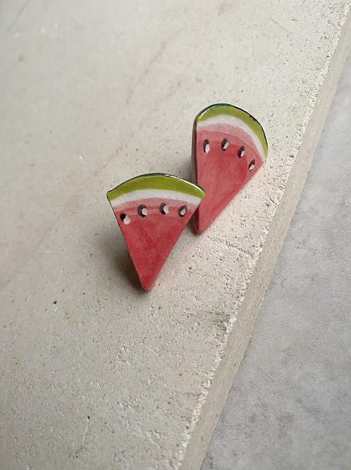 Mini Watermelon Slice Studs