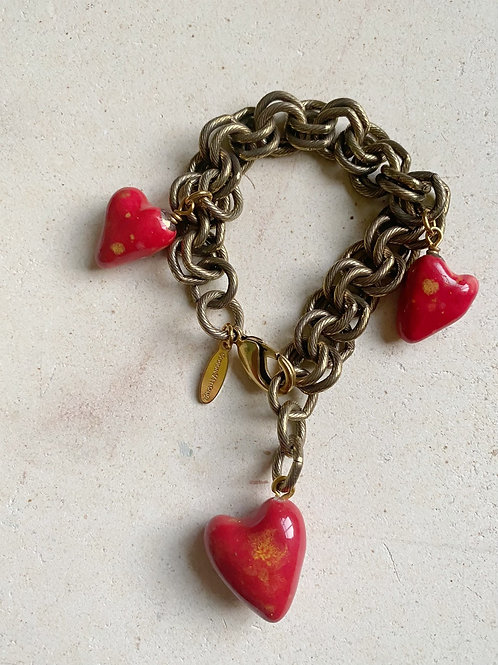 My heart is full - Charm Bracelet