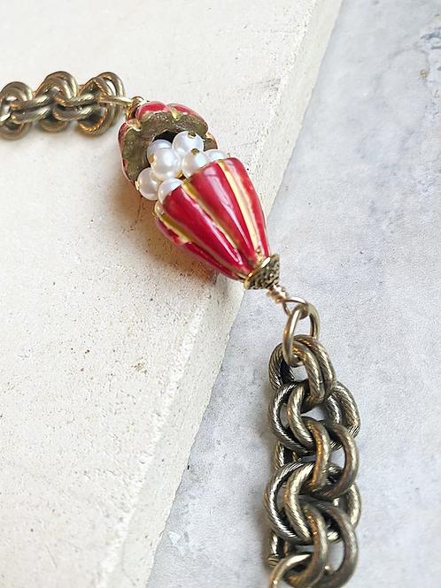 Cracked open Cocoa Pod Bracelet