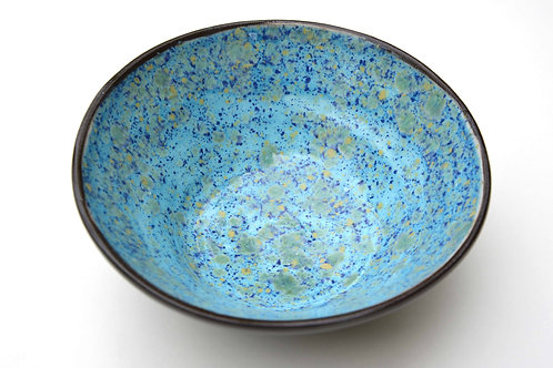 Terracotta Schale blau