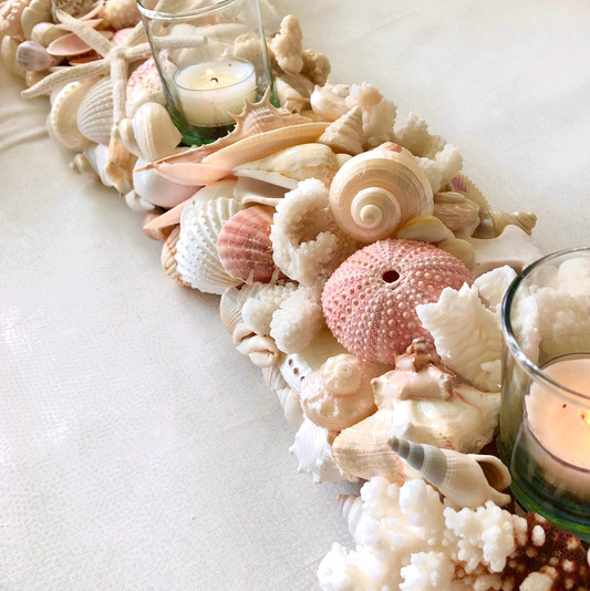 Pink table-top mantle